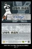 2007 SPx Iron Man Signatures #IM23