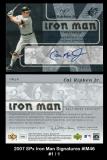2007 SPx Iron Man Signatures #IM46