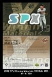 2007 SPx Winning Materials 199 Gold #RC