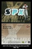 2007 SPx Winning Materials 99 Gold #RC