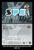 2007 SPx Winning Materials 99 Silver #RC