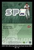 2007 SPx Winning Materials Dual Green #RC