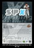 2007 SPx Winning Materials Dual Silver #RC