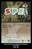 2007 SPx Winning Materials Patches Gold #RC