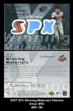 2007 SPx Winning Materials Patches Silver #RC
