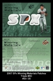 2007 SPx Winning Materials Patches Triple #RC