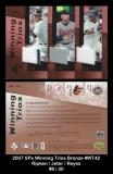2007 SPx Winning Trios Bronze #WT42