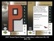 2007 Sweet Spot Classic Legendary Lettermen #LL18P