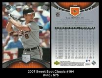 2007 Sweet Spot Classic #104