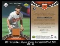 2007 Sweet Spot Classic Classic Memorabilia Patch #CR