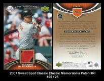 2007 Sweet Spot Classic Classic Memorabilia Patch #RI