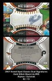2007 Sweet Spot Classic Dual Signatures Gold Stitch Black Ink #RS