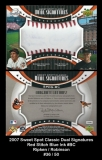 2007 Sweet Spot Classic Dual Signatures Red Stitch Blue Ink #BC