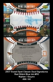 2007 Sweet Spot Classic Dual Signatures Red Stitch Blue Ink #RG