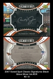 2007 Sweet Spot Classic Signatures Black Glove Silver Ink #CR