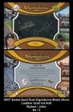 2007 Sweet Spot Dual Signatures Black Glove Leather Gold Ink #JR