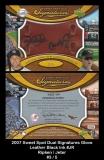 2007 Sweet Spot Dual Signatures Glove Leather Black Ink #JR