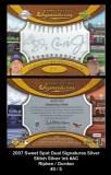 2007 Sweet Spot Dual Signatures Silver Stitch Silver Ink #AC