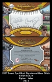 2007 Sweet Spot Dual Signatures Silver Stitch Silver Ink #JR