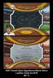 2007 Sweet Spot Signatures Black Glove Leather Gold Ink #CR