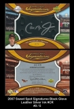 2007 Sweet Spot Signatures Black Glove Leather Silver Ink #CR