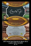 2007 Sweet Spot Signatures Black Glove Leather Silver Ink #CR2