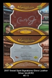 2007 Sweet Spot Signatures Glove Leather Silver Ink #CR2