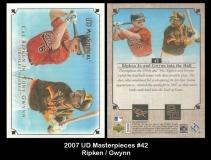 2007 UD Masterpieces #42