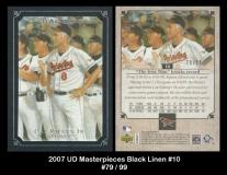 2007 UD Masterpieces Black Linen #10