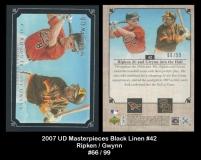 2007 UD Masterpieces Black Linen #42