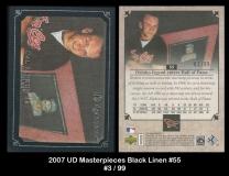 2007 UD Masterpieces Black Linen #55