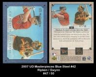 2007 UD Masterpieces Blue Steel #42