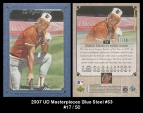 2007 UD Masterpieces Blue Steel #53