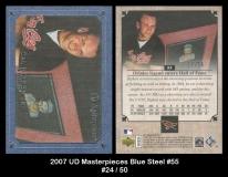 2007 UD Masterpieces Blue Steel #55