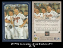 2007 UD Masterpieces Deep Blue Linen #10