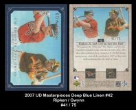 2007 UD Masterpieces Deep Blue Linen #42