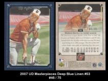 2007 UD Masterpieces Deep Blue Linen #53