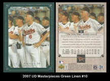 2007 UD Masterpieces Green Linen #10