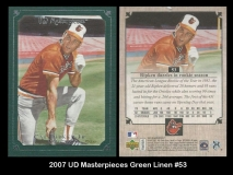 2007 UD Masterpieces Green Linen #53