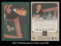 2007 UD Masterpieces Green Linen #55