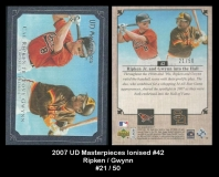 2007 UD Masterpieces Ionised #42