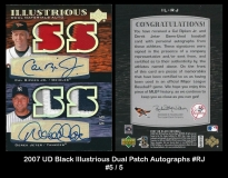 2007 UD Black Illustrious Dual Patch Autographs #RJ