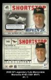 2008 SP Legendary Cuts Memorable Moments #149 1991 MVP