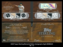 2008 Topps Sterling Moments Relics Autographs Eight #8SMA25