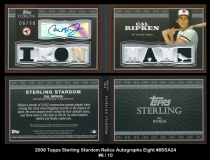 2008 Topps Sterling Stardom Relics Autographs Eight #8SSA24