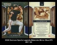2008 Donruss Sports Legends Materials Mirror Blue #75