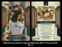 2008 Donruss Sports Legends Materials Mirror Emerald #75
