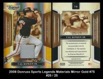 2008 Donruss Sports Legends Materials Mirror Gold #75