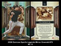 2008 Donruss Sports Legends Mirror Emerald #75