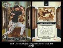 2008 Donruss Sports Legends Mirror Gold #75